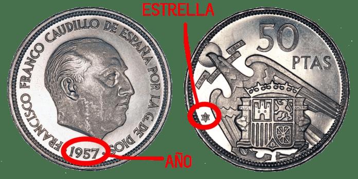 50 pesetas 1957
