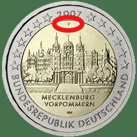 Marca de Ceca en Alemania 2007 2€ Conmemorativos