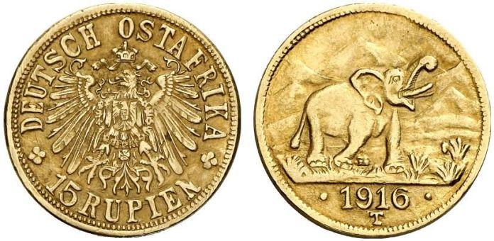 15 Rupias 1916 Ostafrika