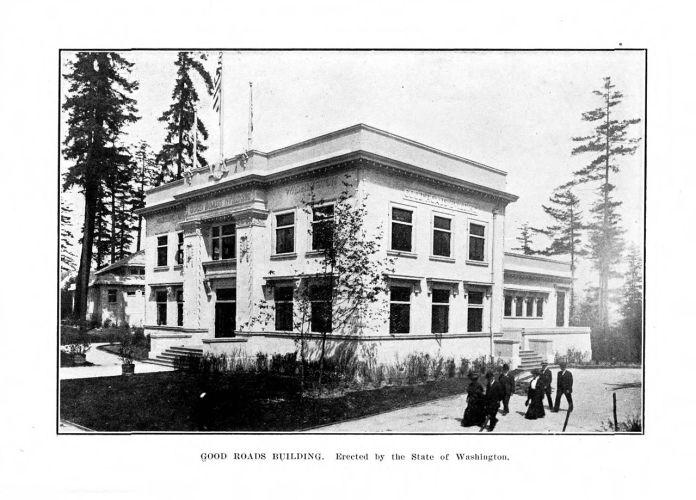 Movimiento de Buenas Carreteras, Pavellón, Seattle 1909