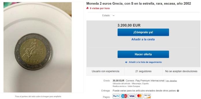 Anuncio Ebay 2 Euros Grecia 2002 S Valor Precio