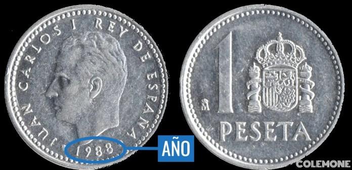 1 Peseta 1988