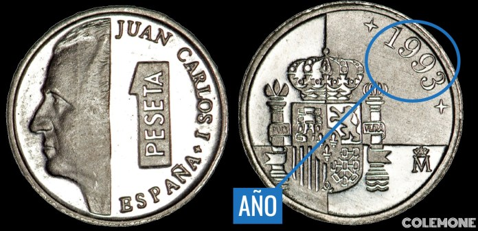 1 Peseta 1993