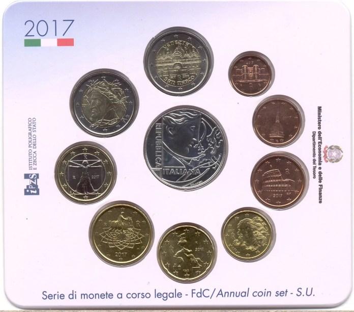 Cartera Tratado de Roma Moneda Conmemorativa de 2 Euros de Italia 2017 - 400 Años de la Finalización de la Basílica de San Marcos en Venecia