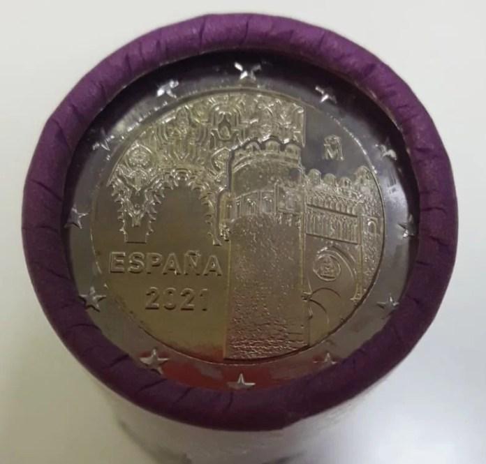Rollo Moneda Conmemorativa de 2 Euros de España 2021 - Ciudad Histórica de Toledo