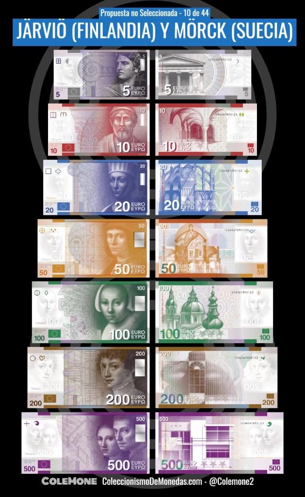 Diseño Perdedor Billete Euro 10 Jarvio y Morck