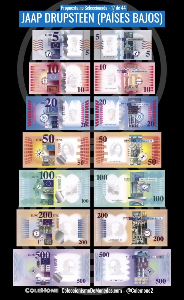 Diseño Perdedor Billete Euro 17 Drupsteen