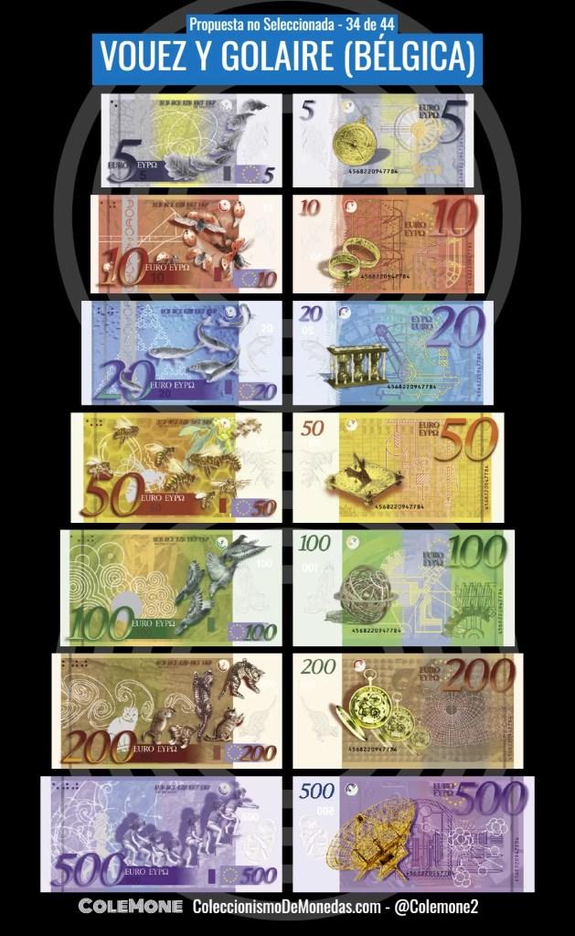 Diseño Perdedor Billete Euro 34 Vouez