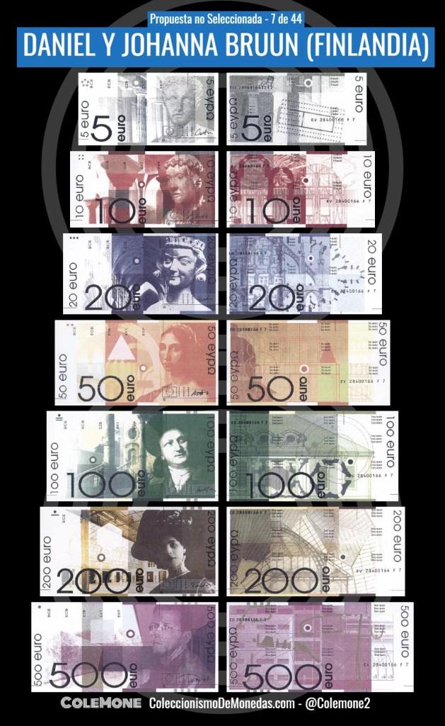 Diseño Perdedor Billete Euro 7 Bruun