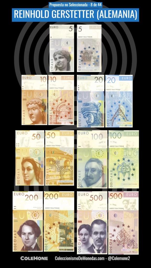 Diseño Perdedor Billete Euro 8 Gerstetter