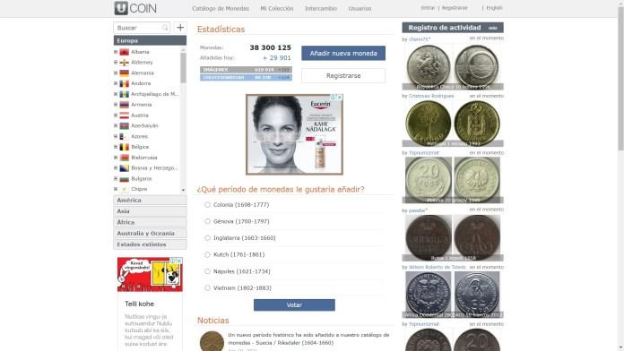 Página de Intercambio de Monedas - ucoin