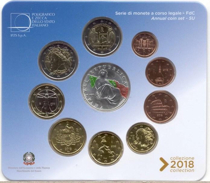 Cartera Anual Conmemorativa Moneda Conmemorativa de 2 Euros de Italia 2018 - 70 Años de la Constitución Italiana