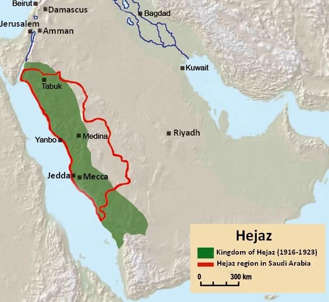 Mapa Hejaz