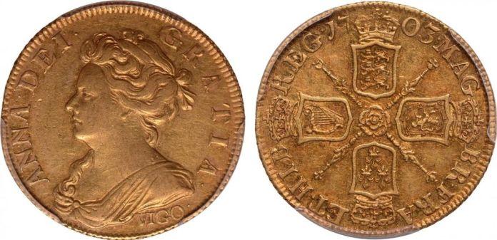 1 Guinea 1703 Vigo