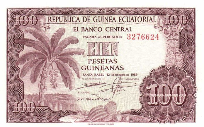 100 Pesetas Guineanas