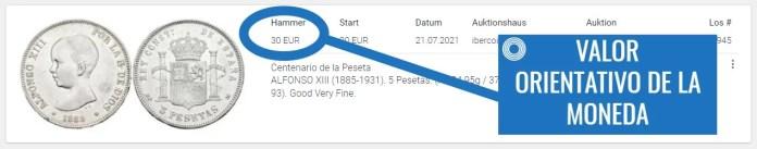 Valor Moneda Antigua Sixbid Paso 6