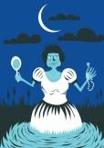 Branca Dias (assombração):A judia do Recife, foi acusada de bruxaria e seria condenada em Portugal. Revoltada, jogou todas as joias no açude antes da viagem, porém, antes de partir, faleceu. Às noites, ronda as ruínas e assombra quem estiver por lá.
