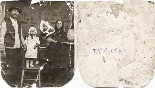 Familie. Verso: Tata, Oane Din arhiva personală Georgeta Drăgănescu
