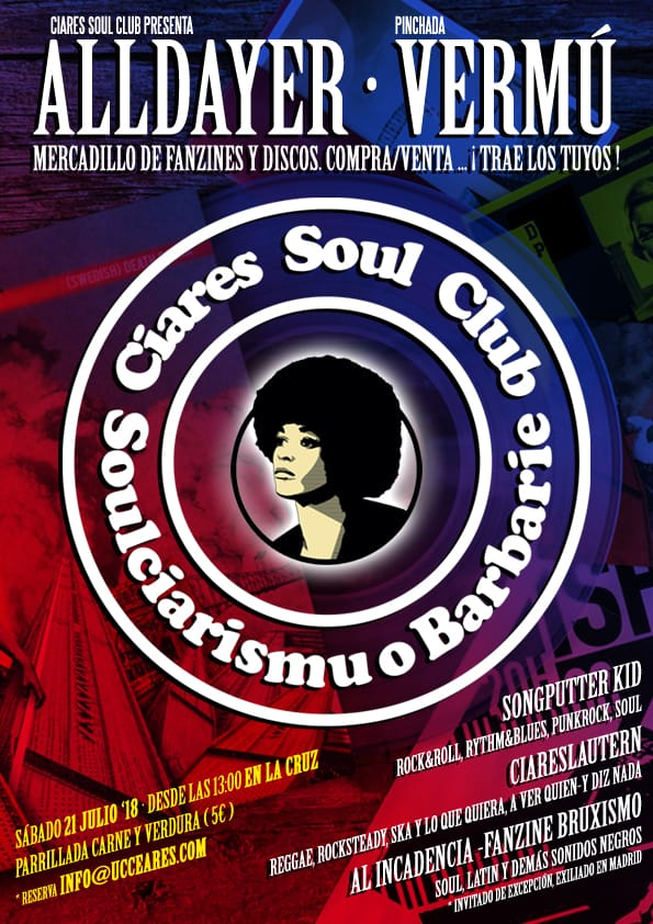 Ciares Soul Club presenta: Alldayer+Vermú. Mercadillo de fanzines y discos
