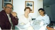 Antoñi Bermudez, Ana Ruiz y su nieto
