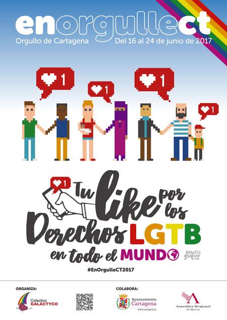 POR LOS DERECHOS LGTB EN TODO EL MUNDO, lema del ENORGULLECT 2017