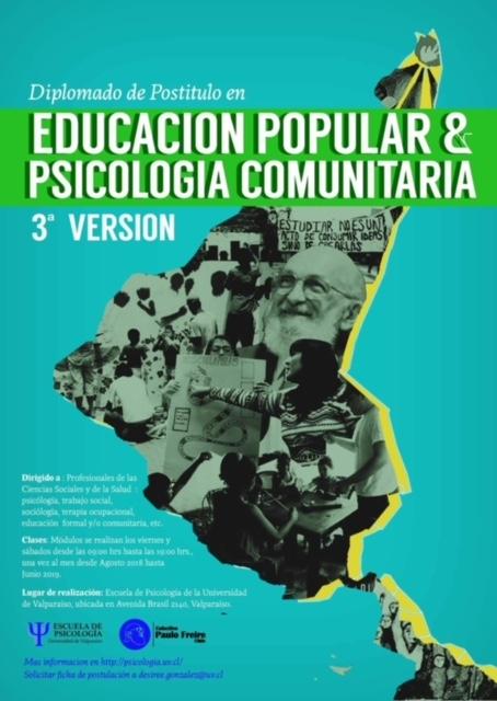 3° Versión Diplomado Educación Popular y Psicología Comunitaria