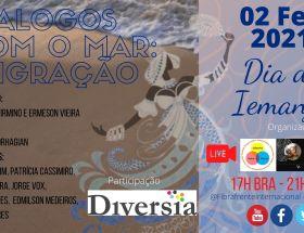 Diálogos Com O Mar: Imigração. Proyecto de Elizabeth Firmino y Érmeson Vieira. Arte: Érmeson Vieira.