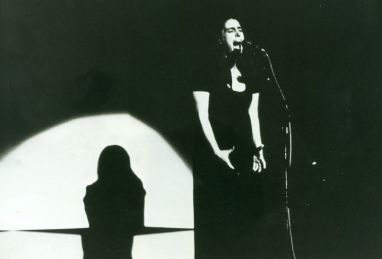 Meg Sheppard en penetrations VII, III Foro Música Nueva, Mexico [1982, Sala Ponce] [Foto: CENIDIM]