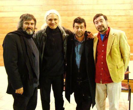 Boris Alvarado (Chile), Alejando Iglesias Rossi (Argentina), Eduardo Cáceres (Chile) y Rafael Díaz (Chile)