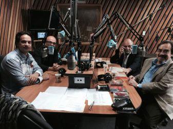 Darwin Aquino, Eddie Mora, Germán Cáceres, Manuel de Elías. Emisora Universidad de Costa Rica 2014
