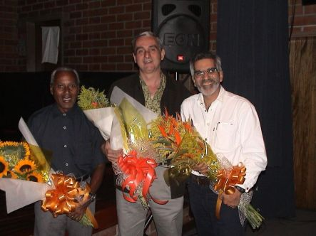 Roberto Valera, Carlos Vázquez, Alfredo Rugeles; XII Foro de Compositores del Caribe, U. EAFIT, Medellín, 2002