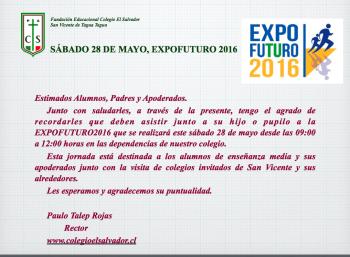 Este sábado se realizará Expofuturo 2016