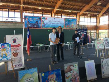 Alumnos de nuestro colegio destacan en concurso de pintura en vivo