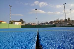 Detalle de la pista de tenis