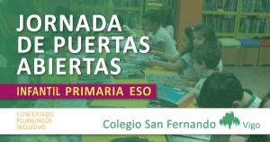 jornada de puertas abiertas colegios an Fernando vigo 2018