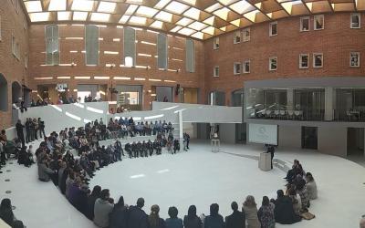 El colegio Nuestra Señora del Pilar de Valladolid inaugura el espacio 'Ágora', un innovador proyecto pedagógico abierto a la ciudad