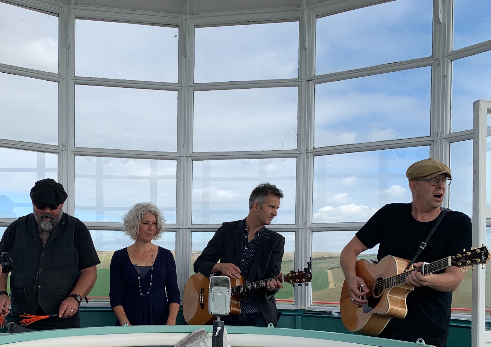 Singing The Light Keeper in lantern room at Belle Tout lighthouse