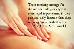 Massage Therapy Compared to Medical Care for Chronic Back Pain