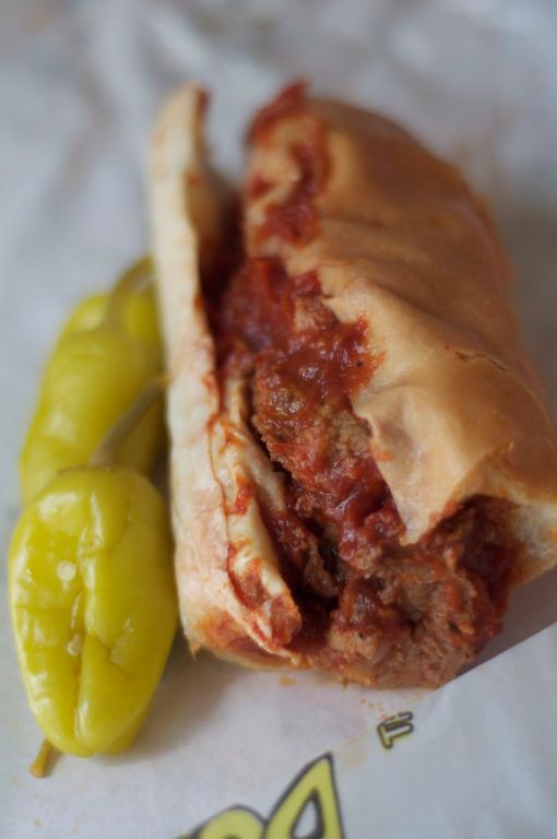 The meatball sub from Busy Bee Market