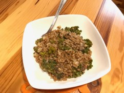 Mushroom and kale buckwheat