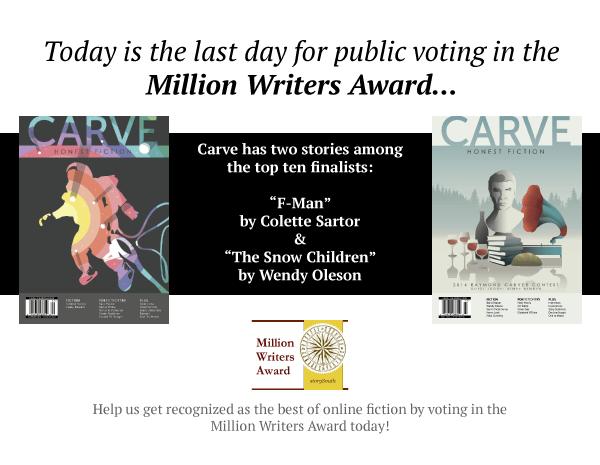 Carve, Million Writers Award