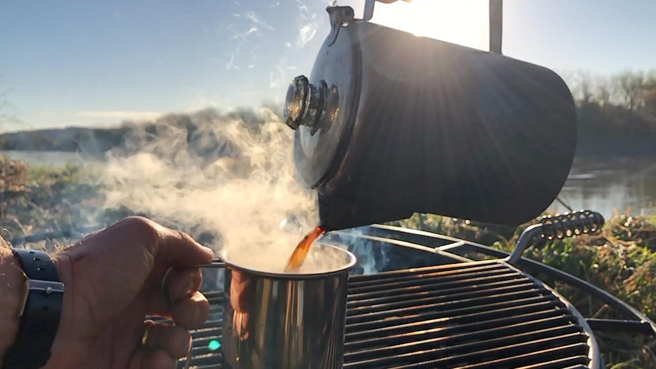Percolator Coffee while Camping Coletti