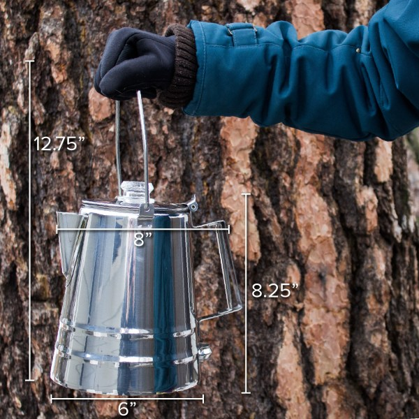 Coletti Butte extra-large capacity campfire percolator
