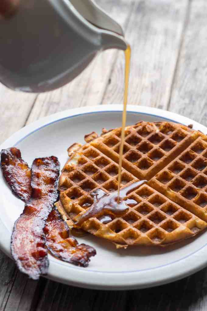 Waffles with Maple Brown Butter