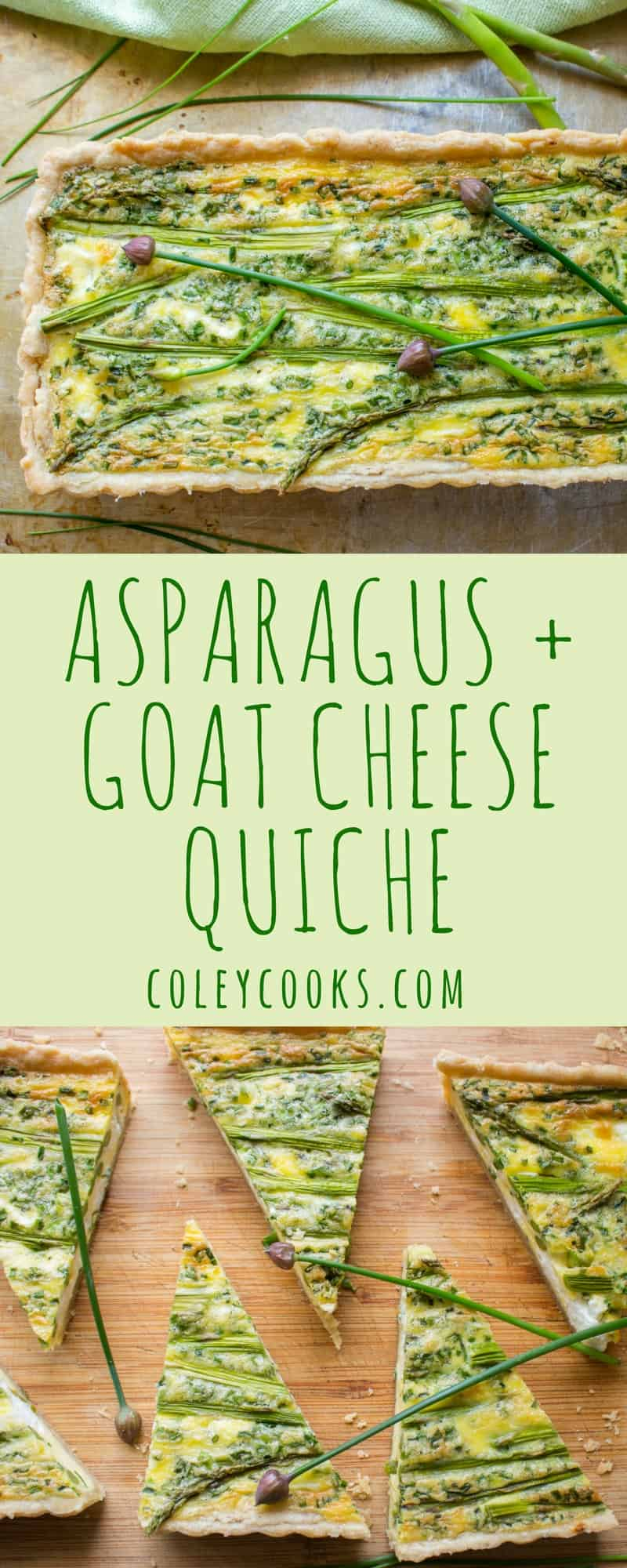 ASPARAGUS + GOAT CHEESE QUICHE | Perfect Brunch Fare for Spring! | ColeyCooks.com