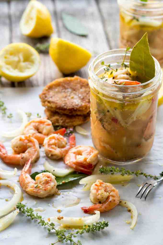 Pickled Shrimp, Fried Green Tomatoes, Creole Remoulade Recipe from ColeyCooks.com