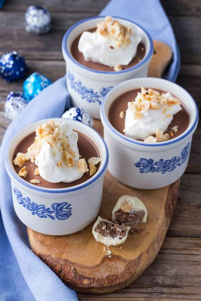 Chocolate Hazelnut Baci Panna Cotta
