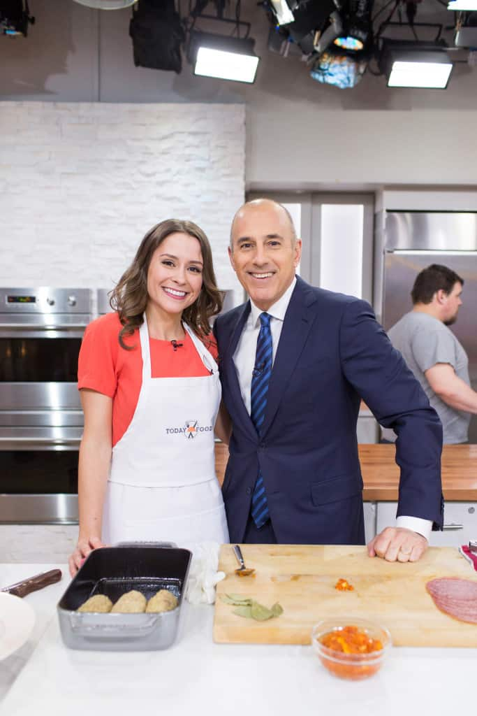 TODAY Show: TODAY Food Club member Nicole Gaffney cooks up Italian beef roll-ups and parmesan spinach. -- April 28, 2016