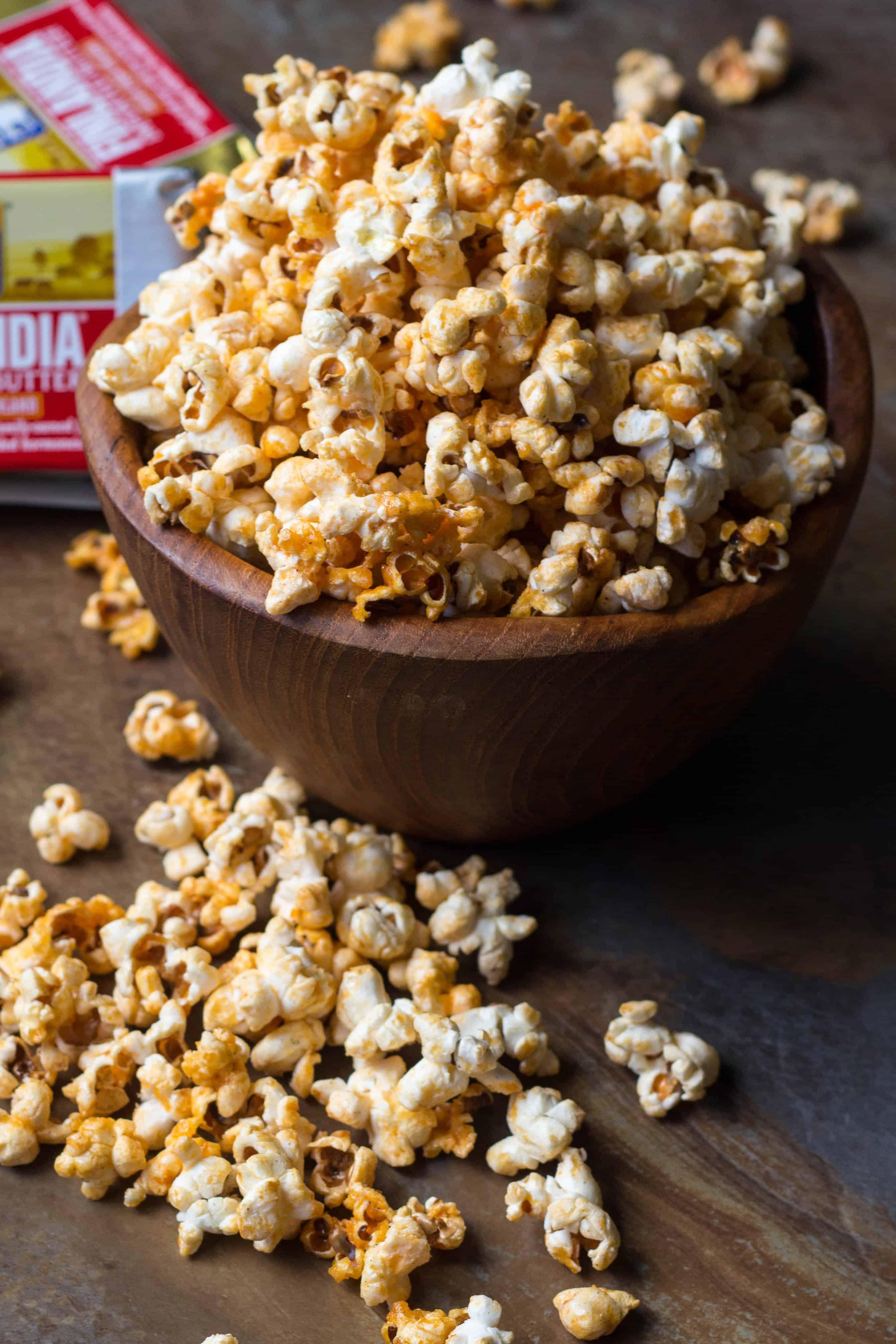 Buttery Buffalo Popcorn (Video!)