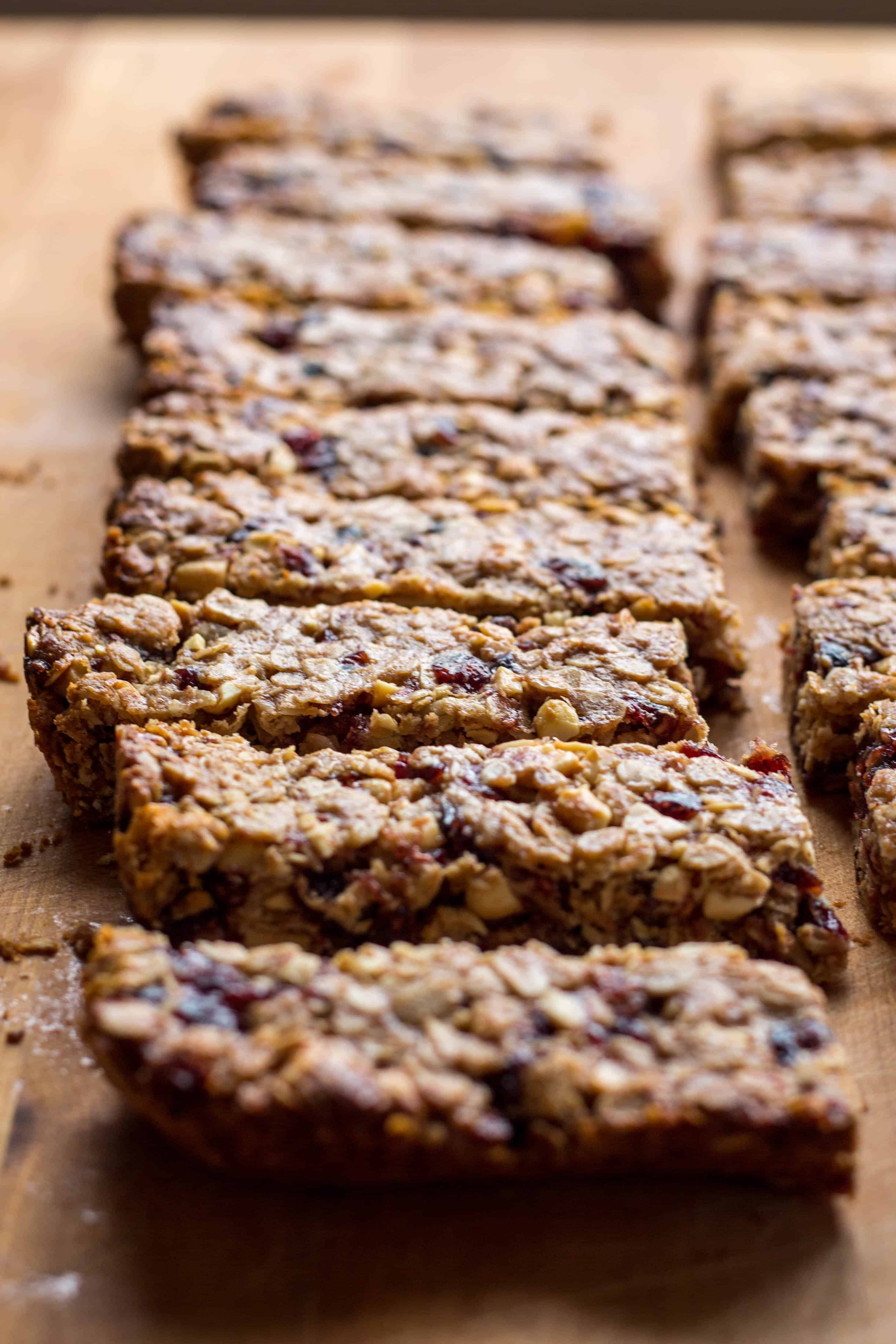 Peanut Butter and Jelly Granola Bars (Video!)